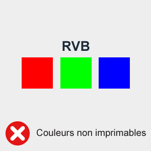 RVB : couleurs non imprimables