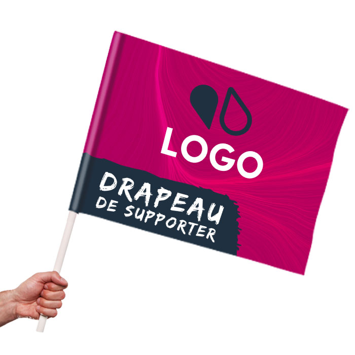 Mini drapeau de supporter publicitaire