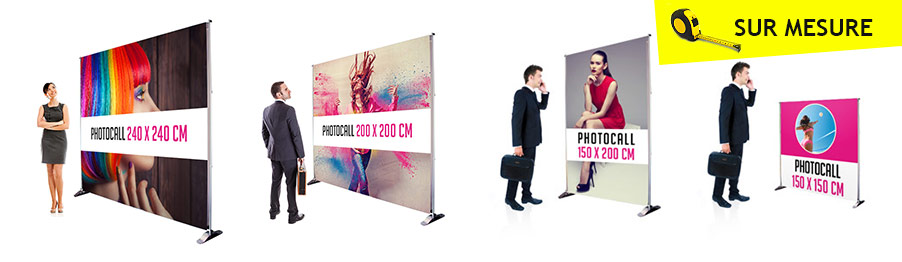 Impression photocall sur mesure bâche 340g