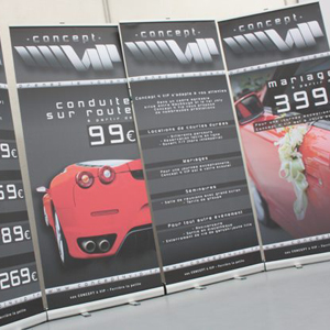 Partage client : Impression roll up Automatique