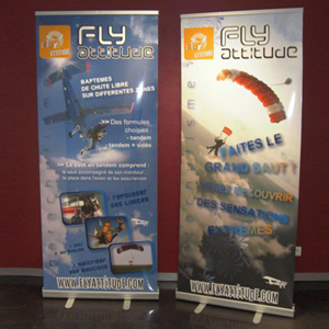 Partage client : Impression Roll up sport extreme